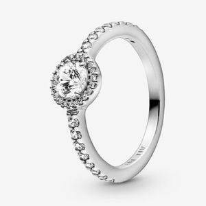 Pandora Classic Sparkle Halo Ring 4.5